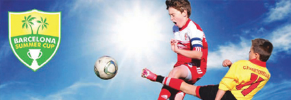 Tournament soccer :<br>Barcelona Summer Cup, Spain