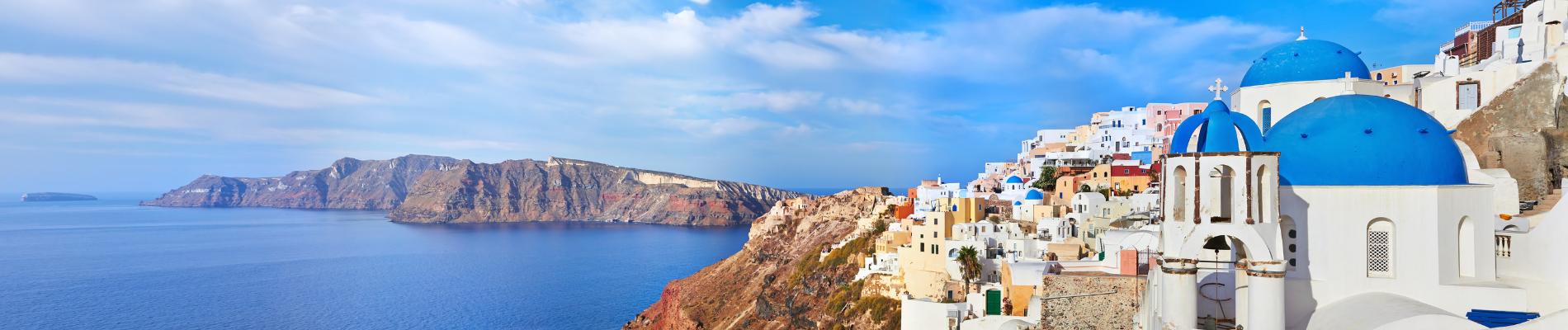 La Grèce continentale</br> et l'île de Santorin